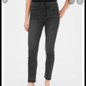 Gap True Skinny Ankle Released Hem High Rise Jeans
